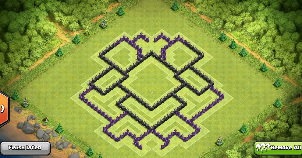 Clash-of-Clans-TH8-air-sweeper-pushing-base